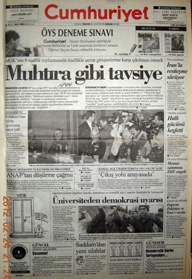 İşte 28 Şubat'ın manşetleri galerisi resim 29