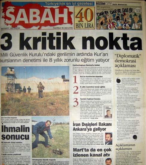 İşte 28 Şubat'ın manşetleri galerisi resim 40