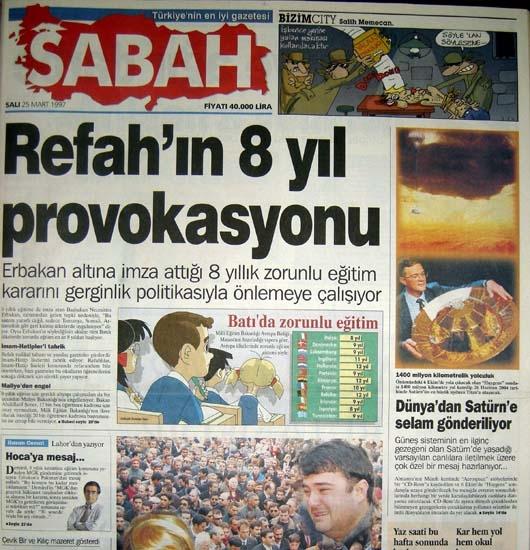 İşte 28 Şubat'ın manşetleri galerisi resim 46