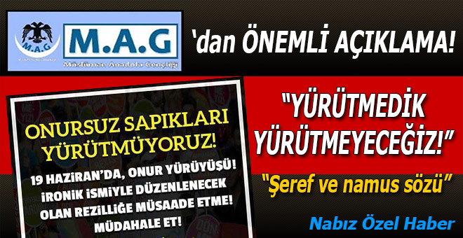 Müslüman Anadolu Gençliği'nden çok önemli açıklamalar!