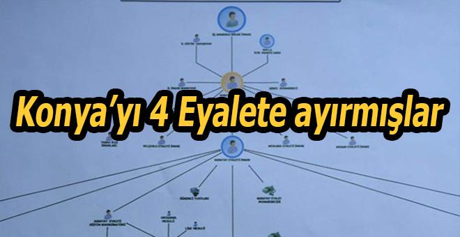 FETÖ'nün şeması ortaya çıktı: Konya'yı 4 eyalete ayırmışlar