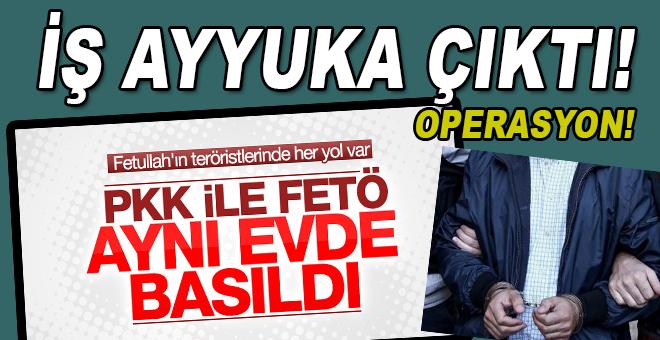 PKK'lılar ve FETÖ'cüler aynı evde yakalandı