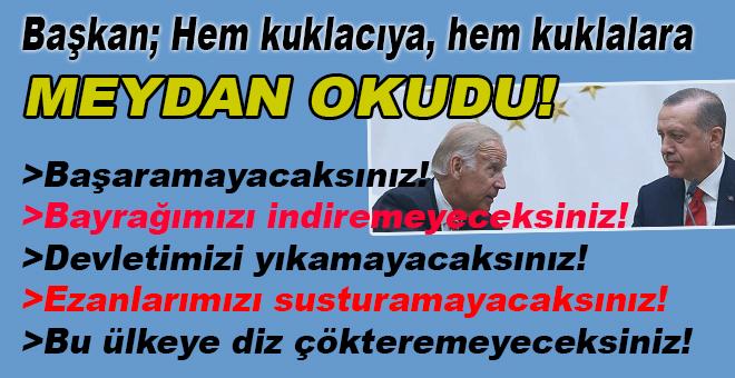 Cumhurbaşkanı Erdoğan; Hem kuklacıya hem kuklalara meydan okudu!