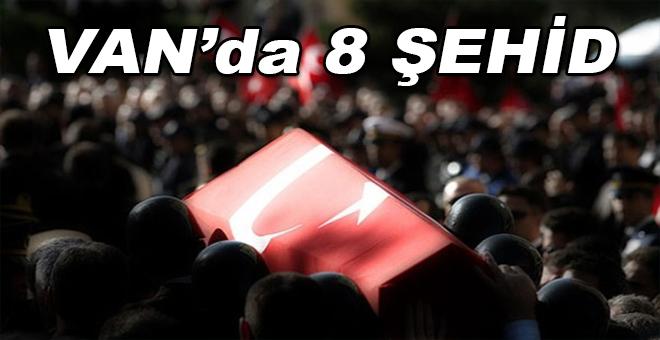 Van'da PKK'lı teröristlerle çıkan çatışmada 8 asker şehit oldu