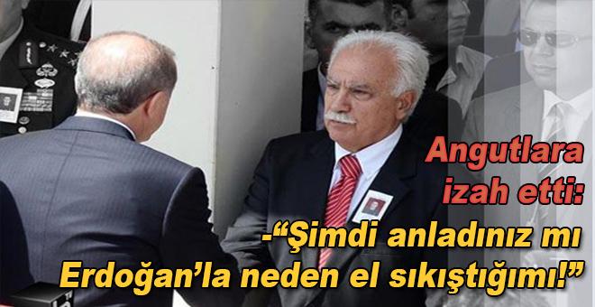 """Doğu Perinçek; """"Şimdi anladınız mı Erdoğan'la niye el sıkıştığımı!"""""""