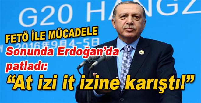 """FETÖ ile mücadele; Sonunda Cumhurbaşkanı Erdoğan'da patladı; """"At izi it izine karıştı!"""""""