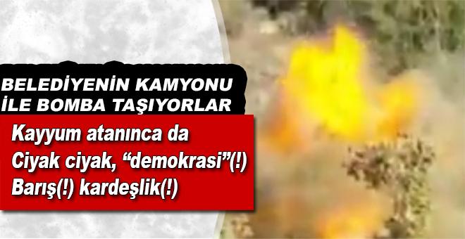 """Belediyenin araçlarıyla bomba taşıyorlar, sonra da """"demokrasi""""(!). İyi valla!"""