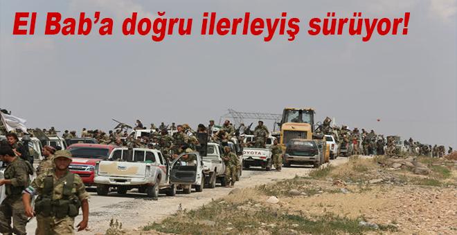 Fırat Kalkanı harekâtı kapsamında ÖSO'ya bağlı grupların El Bab'a ilerleyişi sürüyor.
