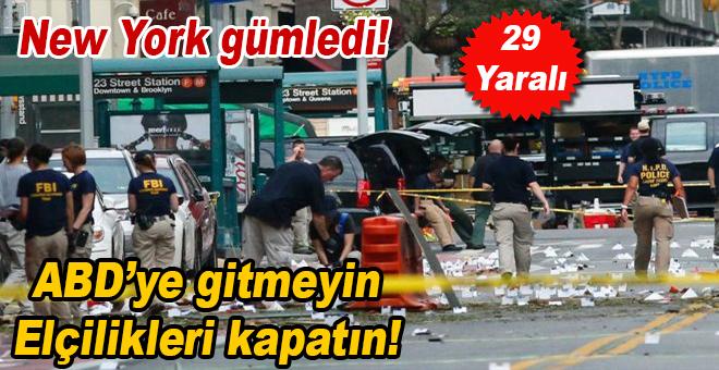 New York'a gitmeyin, elçilikleri kapatın! Büyük patlama; 29 yaralı!