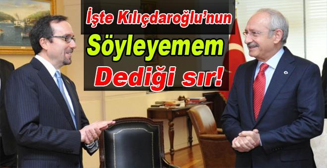 İşte Kılıçdaroğlu'nun söyleyemem dediği sır