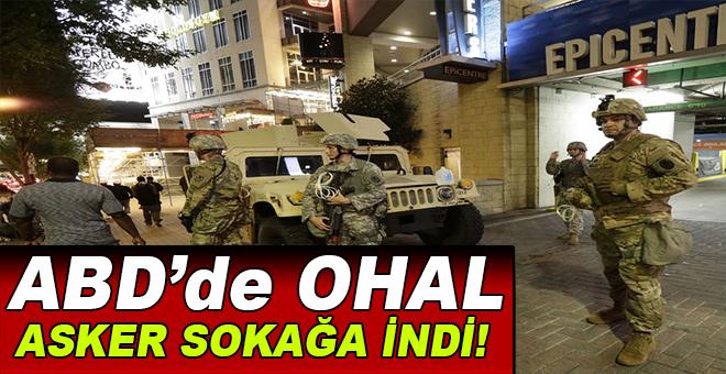 Amerika'da OHAL, Asker sokağa indi!