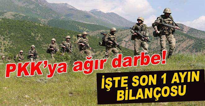 PKK'ya ağır darbe; işte son bir ayın bilançosu!