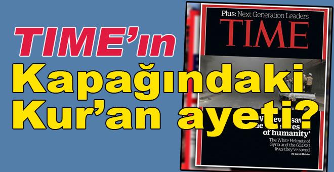 Time bu kez kapağına Kuran'dan ayet taşıdı