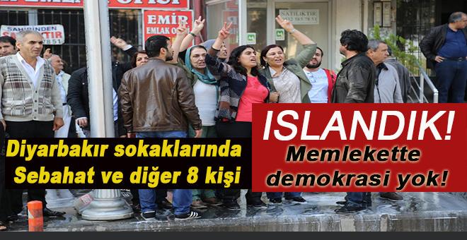Bittiğinizin resmidir; Diyarbakır sokaklarında Sebahat ve diğer 8 kişi!
