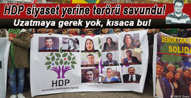 Ekin Gün yazdı; HDP, siyaset yerine terörü savundu!