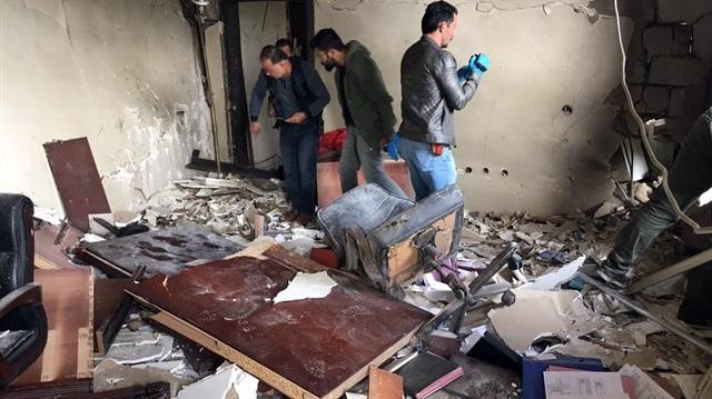 Derik'te kaymakamlık binasına roketli saldırı