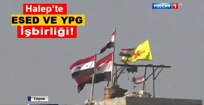 Halep'te Esad ve YPG işbirliği böyle görüntülendi!