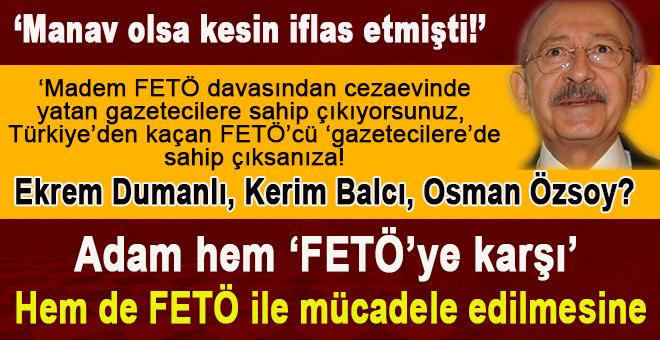 Adam, hem 'FETÖ'ye karşı', hem de FETÖ ile mücadele edilmesine!