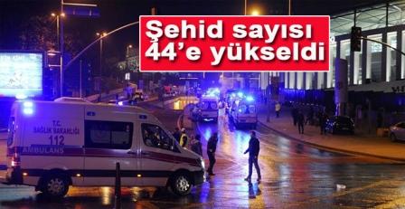 İstanbul Beşiktaş'taki saldırıda şehit sayısı 44'e yükseldi