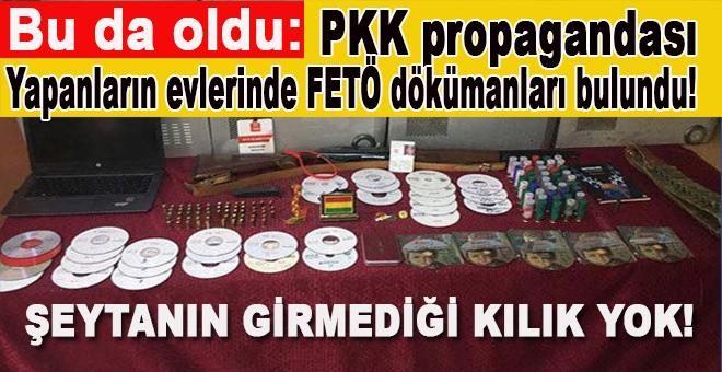 PKK propagandası yapanların evlerinde FETÖ dökümanları bulundu!
