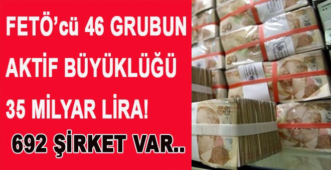 FETÖ'cü 46 grubun aktif büyüklüğü 35 milyar lira