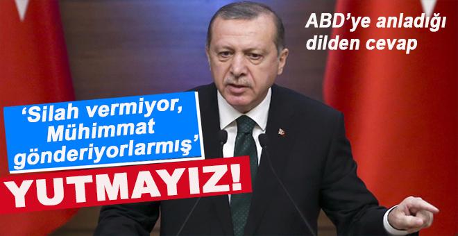"""Cumhurbaşkanı Erdoğan'dan ABD'ye """"anladığı dilden"""" cevab!"""