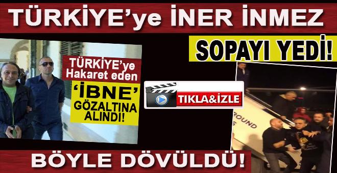 Barbaros Şansal isimli sapık Türkiye'ye iner inmez sopayı yedi!