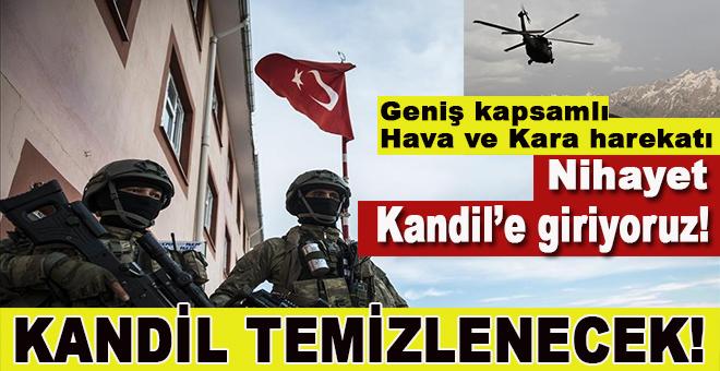 Türkiye düğmeye bastı; Kandil'e en büyük kara ve hava operasyonu başlıyor!