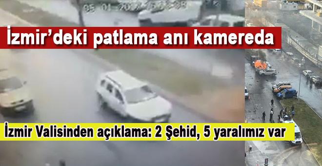 İzmir'deki patlama anı kamerada!
