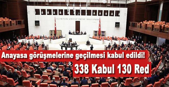 Başkanlık sistemine doğru; 338 Kabul!