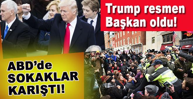 Trump resmen başkan oldu; ABD sokakları karıştı!