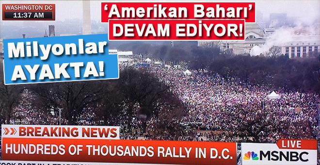 Milyonlar ayakta; ABD'de Trump karşıtı gösteriler devam ediyor
