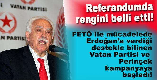 FETÖ ile mücadelede Erdoğan'a destek veren Perinçek referandum için de kararını verdi!