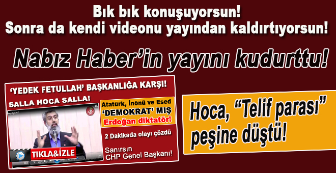 Nabız Haber'in yayını battı; Hoca telif parası peşine düştü!