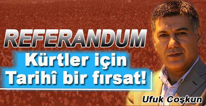 Ufuk Coşkun: Referandum Kürtler için tarihi bir fırsattır