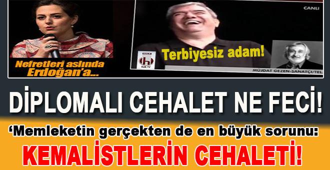 Bir yandan ağıza alınmayacak hakaretler savuruyorlar Nilhan Osmanoğlu'na, bir taraftan da kendi diplomalarını bir bir saymayı ihmal etmiyorlar.