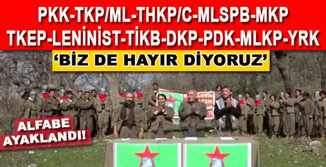 """CHP'ye destek; Alfabede harf bırakmayan terör örgütleri """"referandum"""" kararını açıkladı!"""