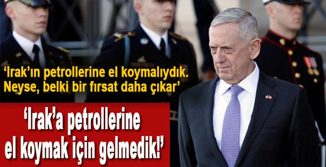 """Mattis: """"ABD askeri petrol için Irak'ta bulunmuyor"""" dedi, bütün dünya ikna oldu!"""