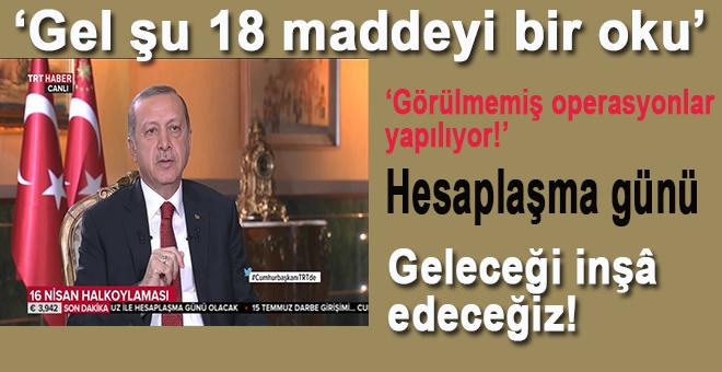 Cumhurbaşkanı Erdoğan; Artık bu iş böyle yürümez!