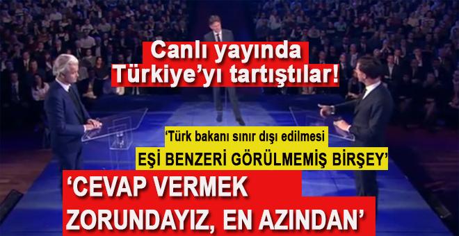 İslâm ve Türk düşmanı Wilders ve Rutte canlı yayında Türkiye'yi tartıştılar!