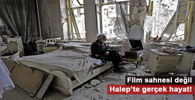 """""""Film sahnesi değil, Halep'te gerçek hayat!"""""""
