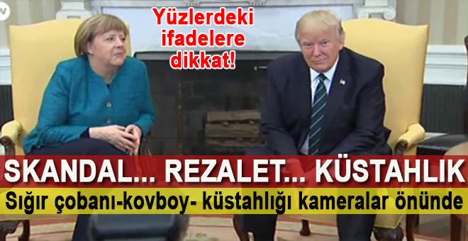ABD Başkanı Trump Merkel'i dünyaya rezil etti