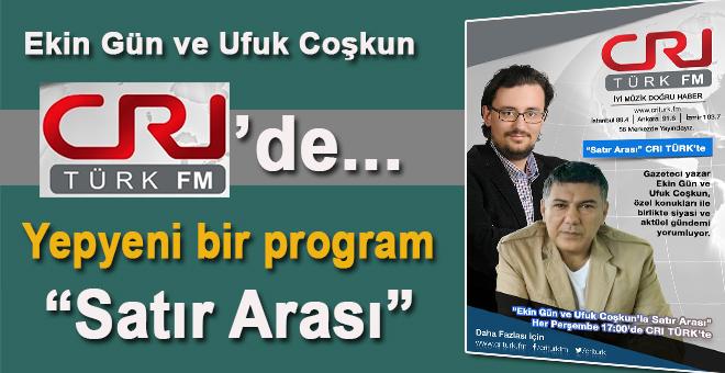Ekin Gün ve Ufuk Coşkun CRI Türk FM'de yepyeni bir programa başlıyor!