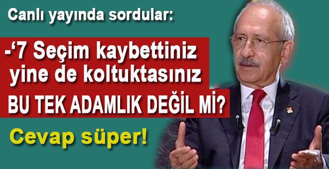 """Kılıçdaroğlu'na soruldu; """"7 seçim kaybettiniz, halen koltukta oturuyorsunuz, bu tek adamlık değil mi?"""""""