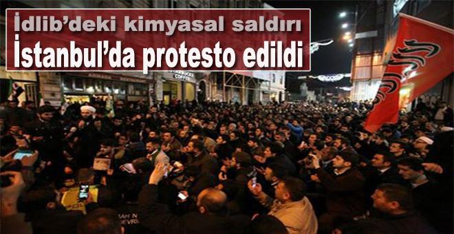 Esed rejiminin kimyasal saldırıları İstanbul'da protesto edildi