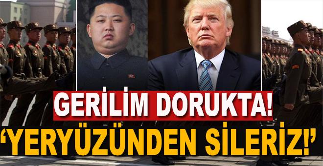 """ABD ve Kuzey Kore, gerilim dorukta; """"Yeryüzünden sileriz!"""""""
