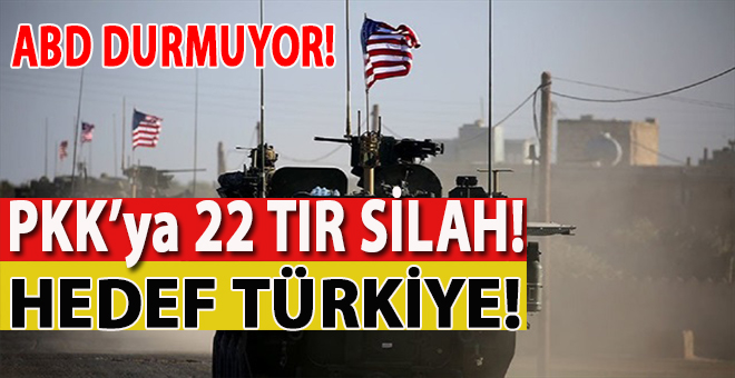 ABD'den skandal karar: PKK'ya 22 TIR silah