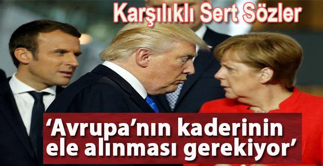 Trump, Merkel'i tehdit etti!