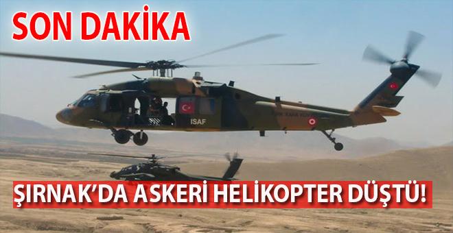 Son dakika: Şırnak'ta  Askeri helikopter düştü!