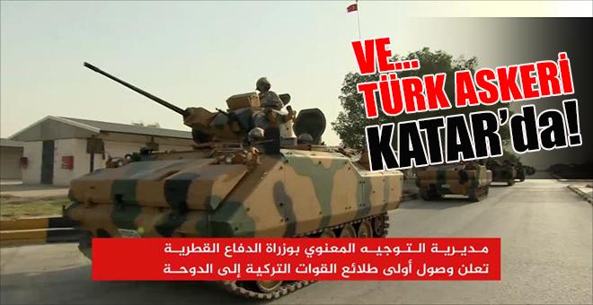 Ve Türk askeri Katar'da!